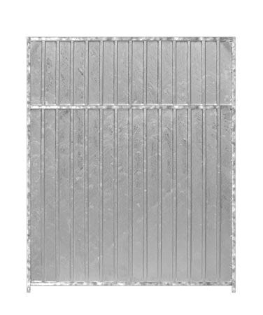 Hundezwinger Wind- und Sichtschutzelement aus verzinktem Stahl geschlossen