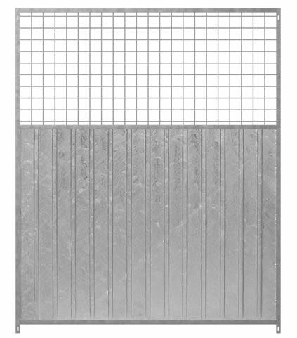 Hundezwinger Wind- und Sichtschutzelement aus verzinktem Stahl 3/4 Mix