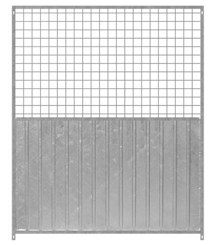 Hundezwinger Wind- und Sichtschutzelement aus verzinktem Stahl 1/2 Mix