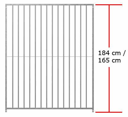 1,84m/1,65m Standartelemente inkl. 5 cm Füße