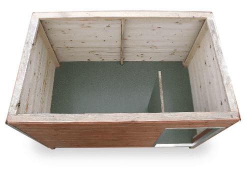 Standardversion mit Vorraum und Zwischenwand zum Herausnehmen