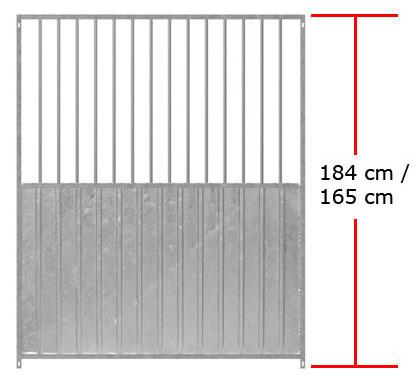 1,84 m Standartelemente inkl. 5 cm Füße